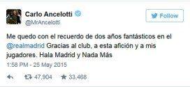 Carlo Ancelotti en Twitter