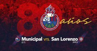 Municipal pierde ante San Lorenzo