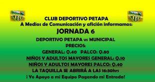 Deportivo Petapa vs Municipal