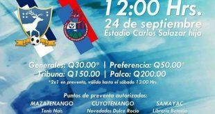 Suchitepéquez vs Municipal Jornada 11 #Apertura2017