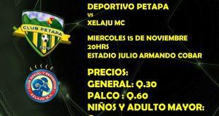 Deportivo Petapa vs Xelajú MC