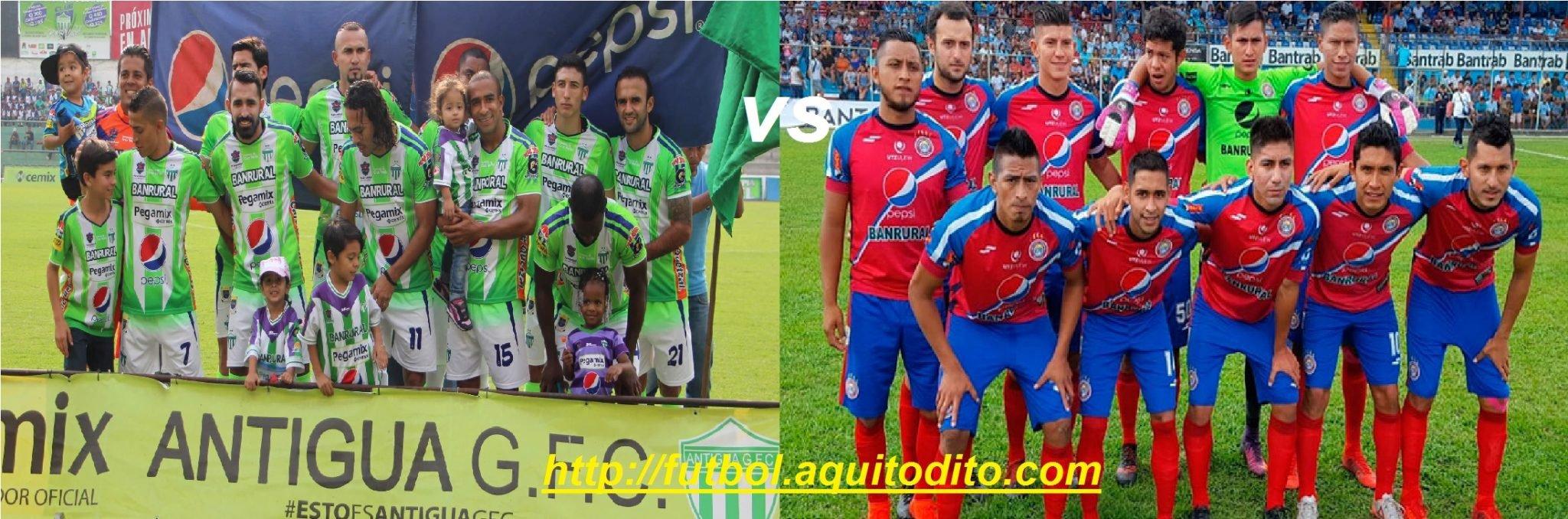 Antigua GFC vs Xelajú MC EN VIVO