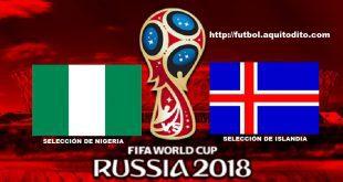 Nigeria vs Islandia EN VIVO