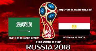 Arabia Saudita vs Egipto EN VIVO