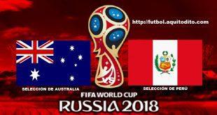 Australia vs Perú EN VIVO