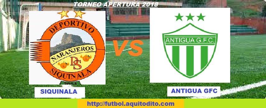 Siquinalá vs Antigua GFC EN VIVO