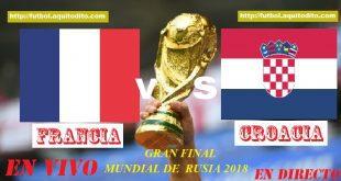 Francia vs Croacia EN VIVO ONLINE