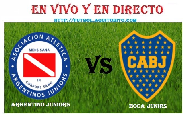 Boca Juniors vs Argentino Juniors EN VIVO