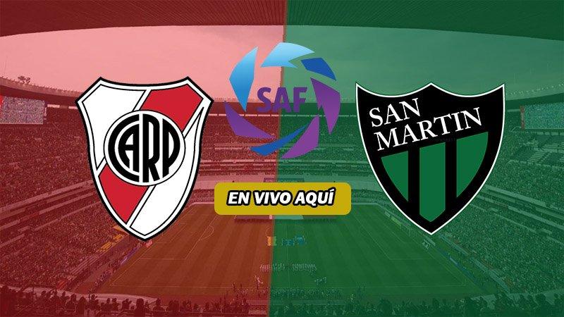 River Plate vs San Martín EN VIVO