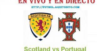 Portugal vs Escocia EN VIVO