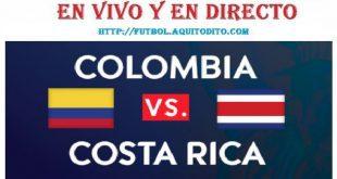 VER Colombia vs. Costa Rica EN VIVO