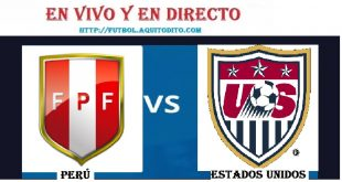 VER Perú vs. Estados Unidos EN VIVO