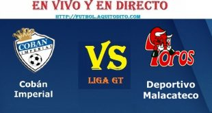 VER Cobán Imperial vs Malacateco EN VIVO