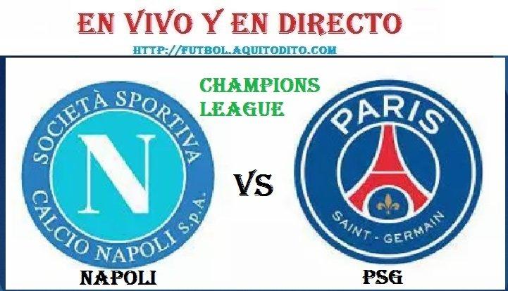 Napoli vs Paris Saint Germain EN VIVO