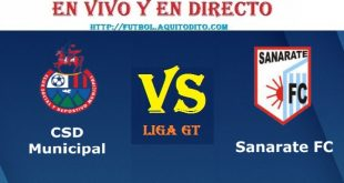 VER Municipal vs Sanarate EN VIVO