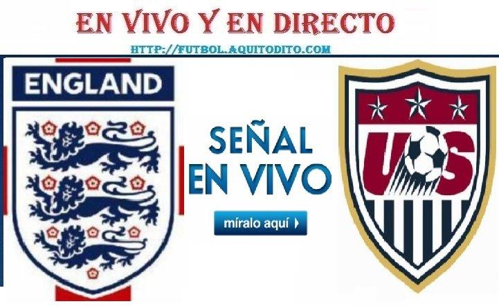 Inglaterra vs Estados Unidos EN VIVO