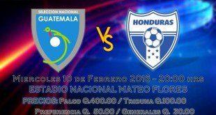 Amistoso Guatemala vs Honduras